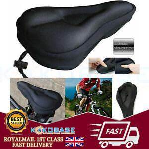 Mountain Bike Comfort Soft Gel Pad Cushion Saddle Seat Cover Bicycle Cycle UK