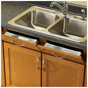 Kitchen Sink Front Tray Drawer Cabinet Tip Out Storage