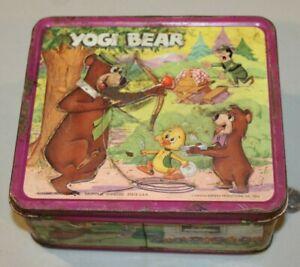 VTG-Metal-Lunchbox-1974-Yogi-Bear-amp-Boo-Boo-Ranger-Aladdin-HTF-Hanna-Barbera