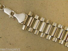 Men's Rhodium Plated 24 inch Long Presidential Link Necklace Chain New 12mm Wide