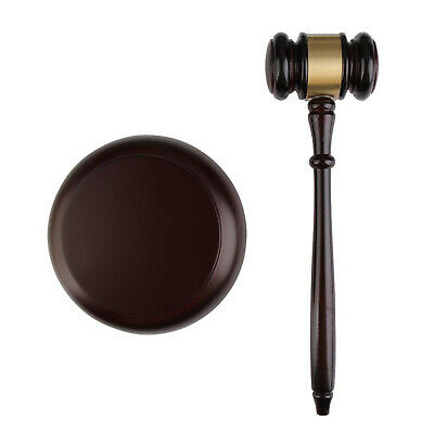 Wooden Handcraft Auctioneer Gavel Sound Block for Lawyer Judge Auction Sale