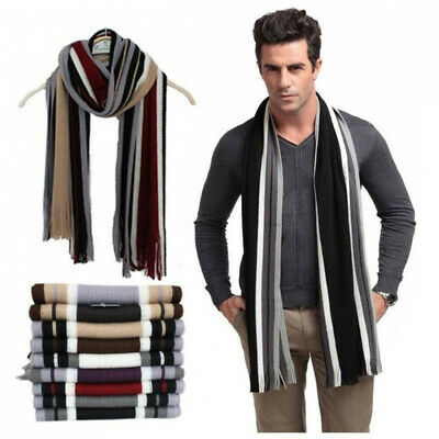 Men/'s Cashmere Silk Scarf Classic Winter Scarf Stole Wraps Shawl Boy Xmas Gift