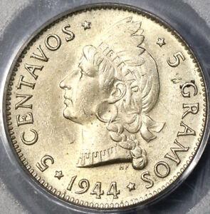 1944-PCGS-MS-63-Dominican-Republic-Silver-5-Centavos-Coin-19012901C