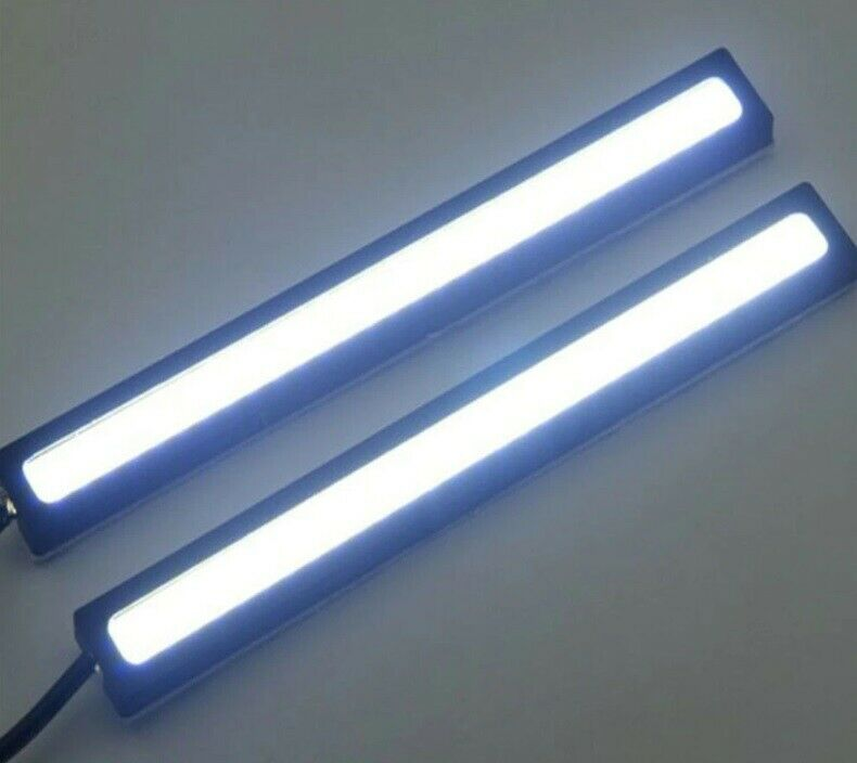 2x 17cm Waterproof Cob Led Strip Daytime Running Drl Fog Driving White Lights N3