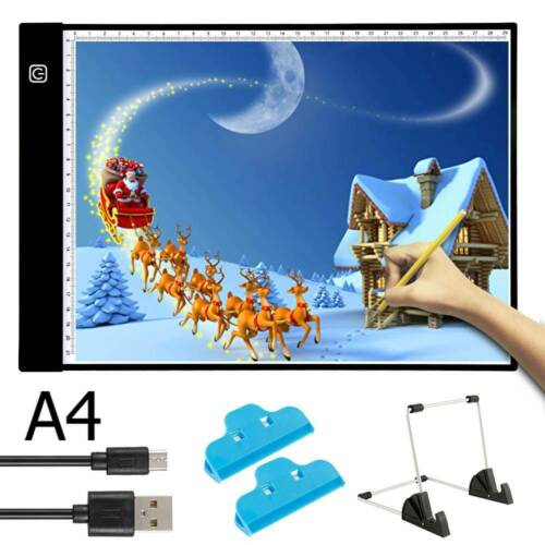 Art Craft LED Light Box Pad A4 Slim Writing Tracing Drawing Board Graphic Tablet