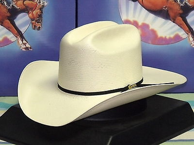 1618c0c257870 RESISTOL 100X ALL AROUND SHANTUNG PANAMA STRAW COWBOY WESTERN HAT