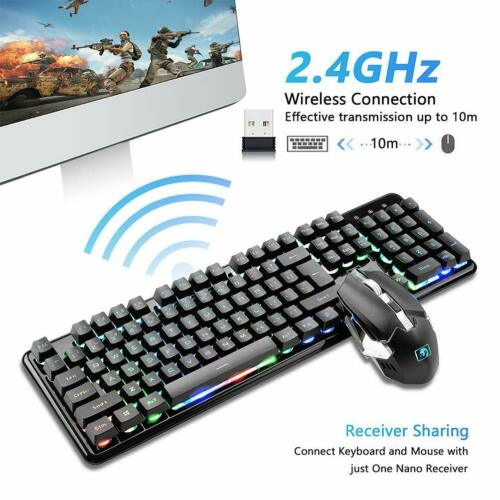 XM-620 2.4G Gaming Keyboard Ganing Mouse Set Wireless Rechargeable LED Backlit