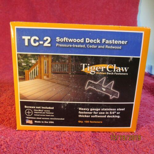 TC-2 TigerClaw Soft Deck Fastener 100 faseners per box