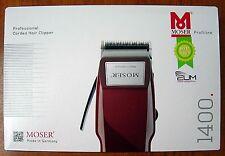 MOSER 1400 Typ NEW Men Set Hair Clipper Trimmer Scissor kit Cut GERMANY 220-240V