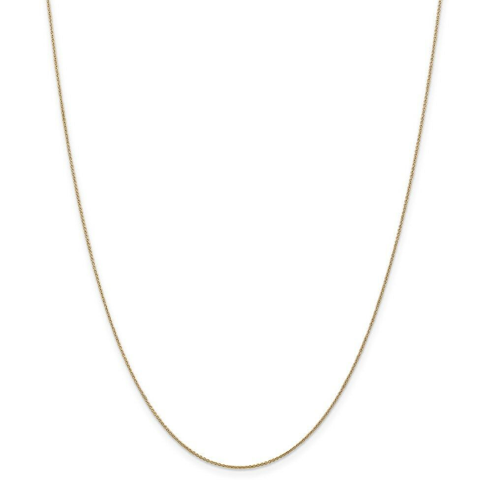 Leslie's Real 14kt Yellow gold .8 mm Round Cable; 18 inch