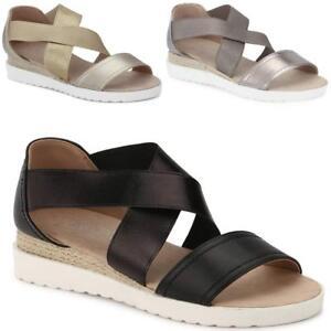 Mujer-senoras-de-Cuna-Playa-De-Verano-Con-Tiras-comodidad-sandles-Zapatos-Tallas-Moda