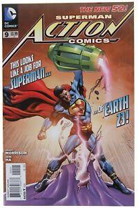 Action Comics 9 Morales Variant NM Calvin Ellis Cover Superman 2012 DC Movie