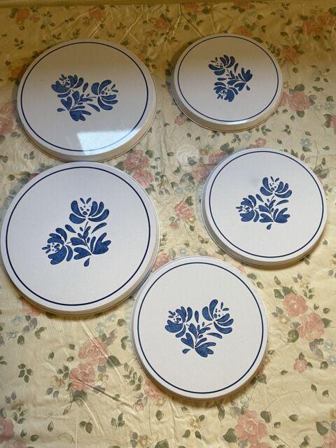 Set of 5 Pfaltzgraff Yorktowne Porcelain Stove Burner Covers  2 Large 3 Small