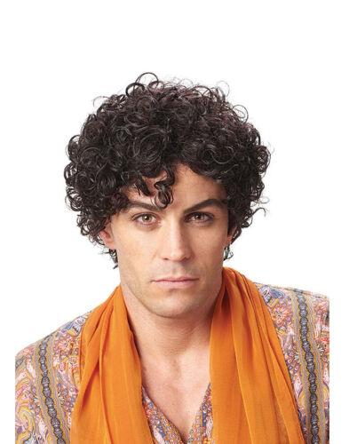 Persian Prince Men/'s Short Black Brown Messy Curly Costume Wig