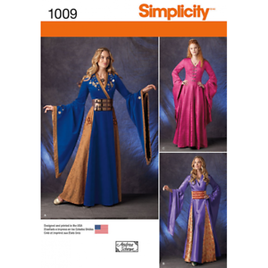 Simplicity-Misses-Medieval-European-Fantasy-Costumes-Fabric-Sewing-Pattern-1009