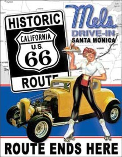 Mel's Diner - Route 66 Nostalgic Vintage Retro Tin Metal Sign 13 x 16in