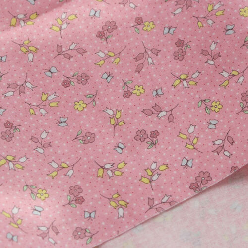 """Cotton Fabric Flower Pattern by the yards 44/"""" Cozy BeBe Forest Flower"""