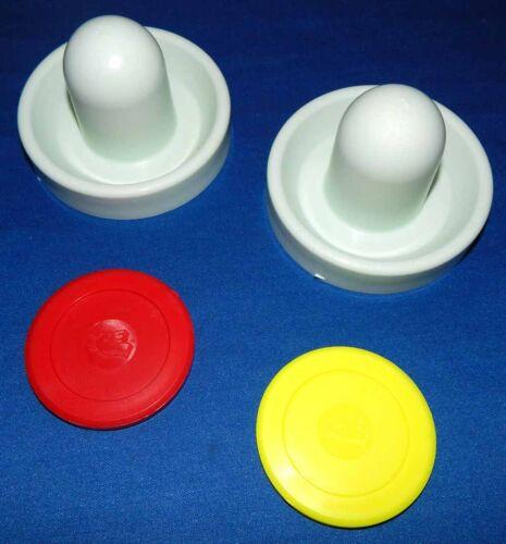 "Valley//Dynamo Air Hockey Table Goalie Mallets /& 2 Dynamo 3 1//4/"" Pucks Set"