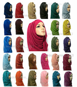 Ladies-Fashion-Big-Large-Maxi-Long-Wide-Plain-Viscose-Scarf-Hijab-Shawl-Wrap