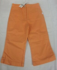 JACADI-Girl-039-s-Bemol-Orange-Cotton-Pocket-Pants-Size-12-Years-NWT-44
