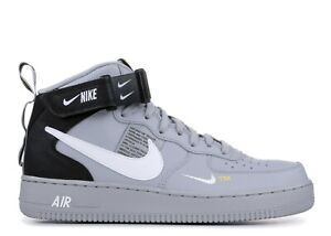 Details about NIKE AIR FORCE 1 MID 07 LV8 MENS WOLF GREY 804609-006 RETRO  AF1 OG UTILITY NEW