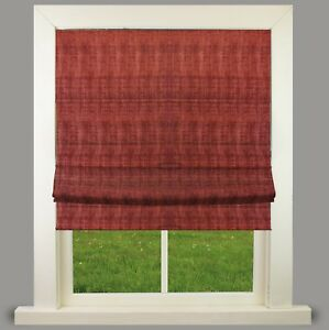 Morocco Red Lined Roman Blind With Choice Of Standard Or