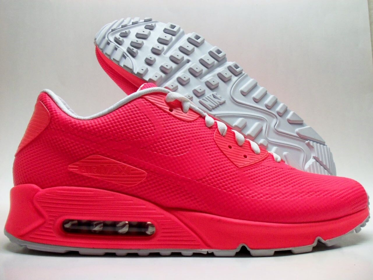 NIKE AIR MAX 90 HYPERFUSE PREMIUM ID SOLAR RED-WHITE SIZE MEN'S 13 Price reduction Special limited time