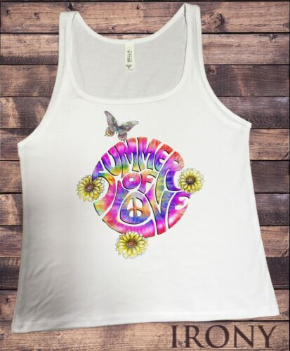 JERSEY Tank Top Summer of Love Dandy Fleurs Papillon Tie Dye Masque JTK1329