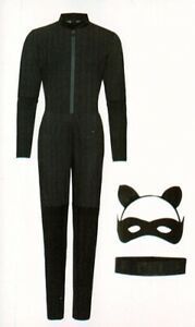 Catwoman-Kostuem-vierteilig-S-36-38-Superheldin-Supergirl-Fasching-Karneval
