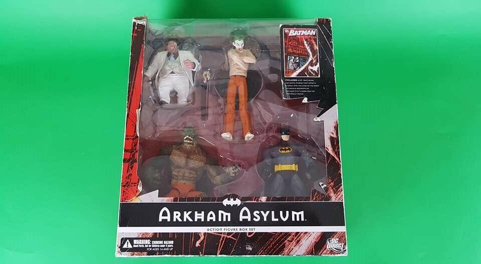 Batuomo Arkham Asylum azione cifra scatola Set  BatuomoJokerPinguinKiller Croc