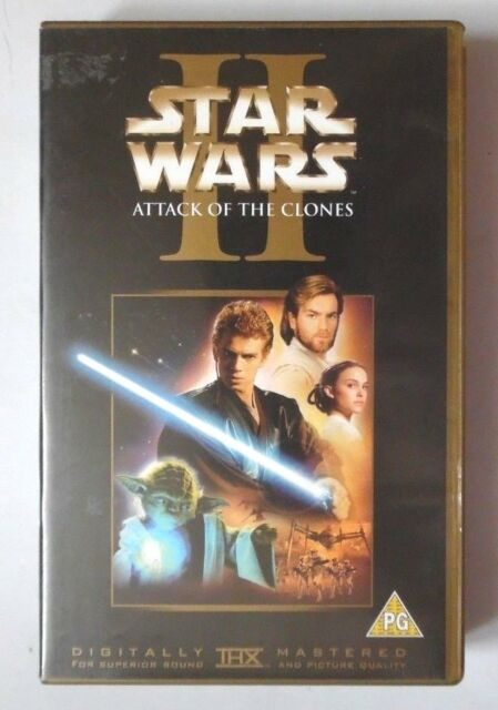 STAR WARS II ATTACK OF THE CLONES VIDEO VHS 2002 136 MINS GEORGE LUCAS