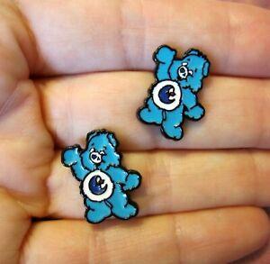 Bedtime-Bear-Earrings-Blue-Care-Bear-Hypoallergenic-Stud