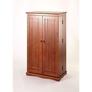 Leslie Dame 40 Cd Dvd Wall Media Storage Cabinet In Walnut