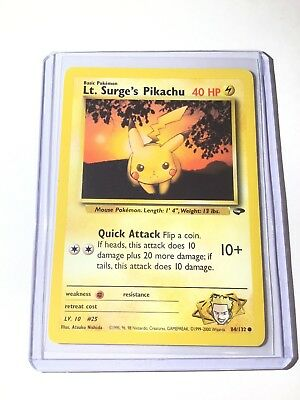 Surge/'s Pikachu Lt Gym Hero Common 81//132 006PK081