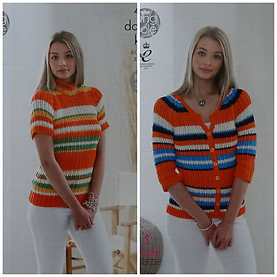 King Cole 5091 Knitting Pattern Womens Sweater and Top in Bamboo Cotton DK