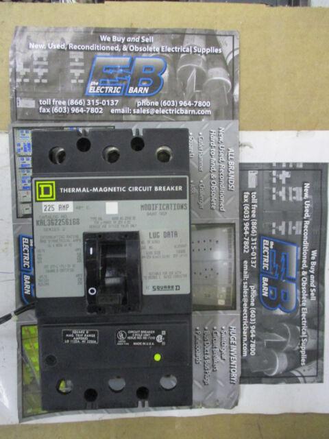 square d circuit breaker kal362256168 225 amp 3 pole with 24 v shunt