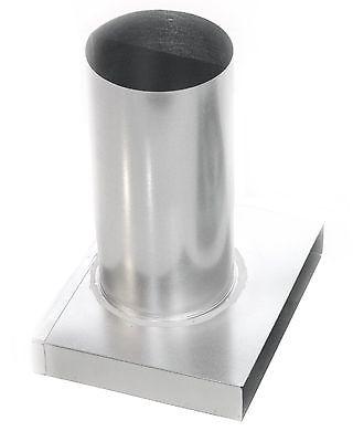 Anschluss Tellerventil B=140mm D125mm Umlenkstück Lange Muffe Flachkanal AusgewäHltes Material