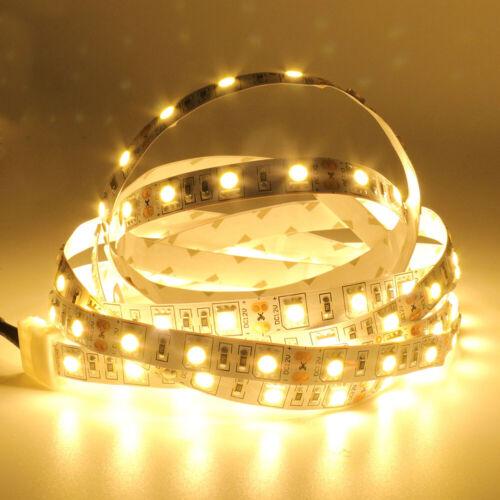 12V 5m LED Streifen Stripe SMD 5050 Warmweiss Kaltweiss Lichterkette Leiste Band