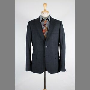Paul Smith 40R Gray Solid Wool Two Button Mens Sport Coat Blazer Jacket