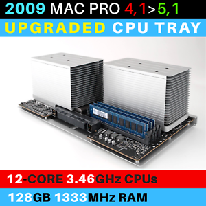 2009-Mac-Pro-4-1-gt-5-1-CPU-Tray-with-12-Core-3-46GHz-Xeon-and-128GB-RAM