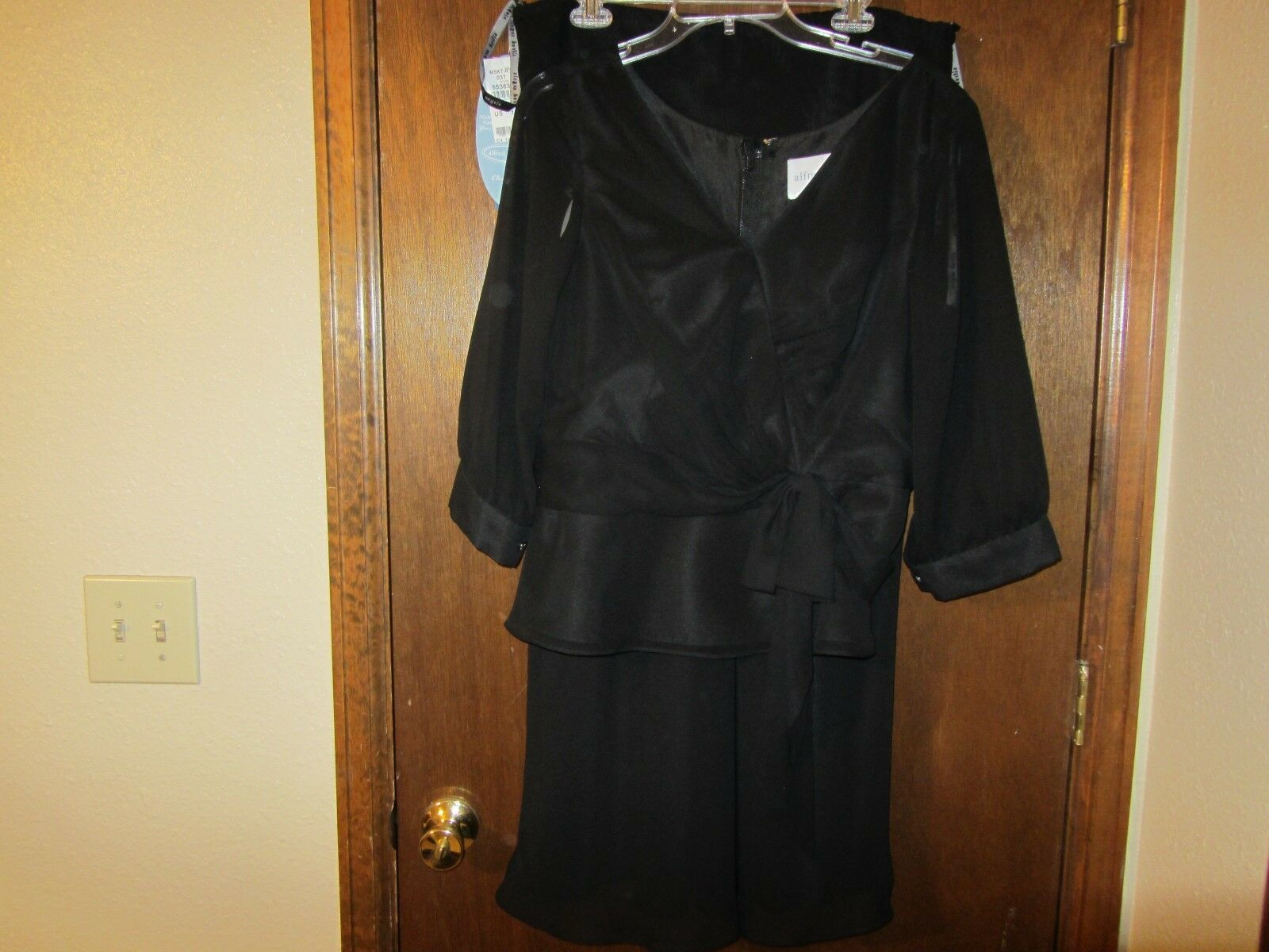 NWT - ALFRED ANGELO - 2 Piece - Black - Size 14 - Formal,Busines,Mother of Bride