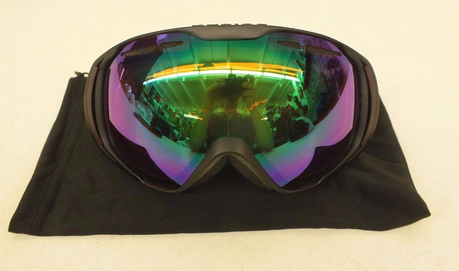 Native Eyewear Upslope Medium Fit Ski Snowboard Goggles United Green Lens NEW