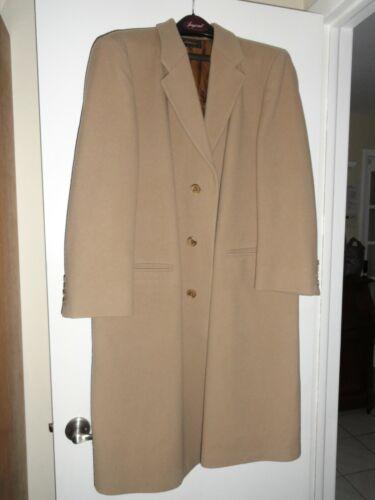 VIRANY Top Coat Overcoat Mens Size 42 Camel Tan Ma