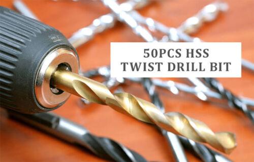50 Stück Micro HSS Titan elektrische Spirale Spiralbohrer Schlangenbohrer Set 1