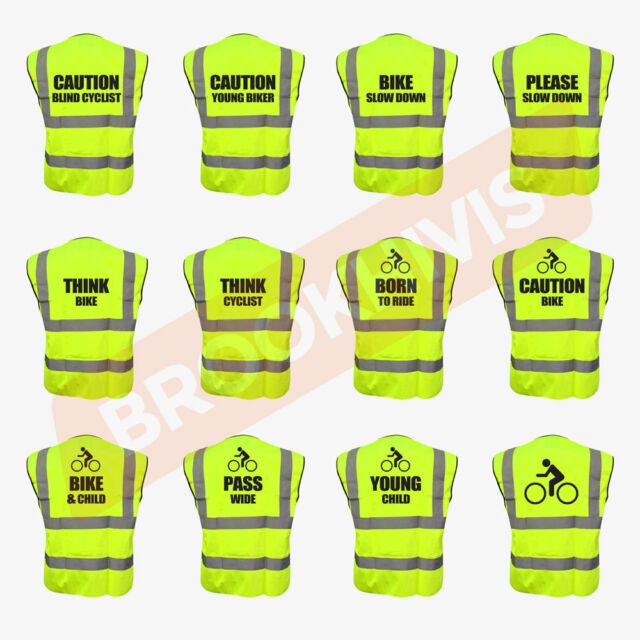CAUTION YOUNG HORSE Yellow//Pink Hi Vis Hi Viz High Visibility Reflective Safety Vest//Waistcoat