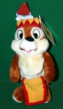 "Walt Disney Bean Bag Plush FRONTIERLAND CHIP 8"" Plush Toy - NWT - FREE SHIPPING"