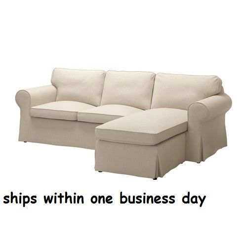 Ikea Ektorp Loveseat With Chaise Sofa Cover Only Slipcover Nordvalla