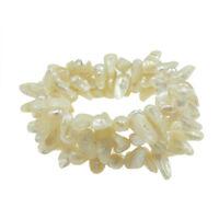Wholesale Lot 6 Genuine Freshwater Pearl Elegant Wrap Stretch Bracelets
