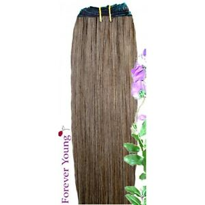 DOUBLE-WEFT-Light-Brown-Human-Hair-Extension-Weft-Full-Head-6