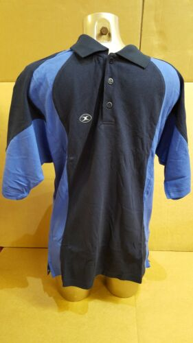 CLEARANCE LINE NEW GILBERT RUGBY POLO SHIRT LEISUREWEAR NAVY ROYAL MEDIUM